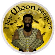 New Moon Keepers Round Beach Towel