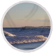 New Old Inlet I I Round Beach Towel