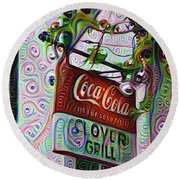 New Orleans - Clover Grill Round Beach Towel