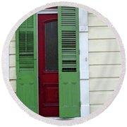 New Orleans Door 11 Round Beach Towel