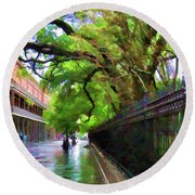 New Orleans French Quarter Paint  Round Beach Towel