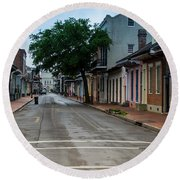 New Orleans French Quarter Special Morning Round Beach Towel