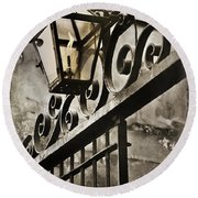 New Orleans Gaslight Round Beach Towel by Beth Riser