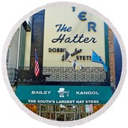 New Orleans Hatter Round Beach Towel