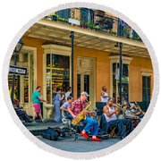 New Orleans Jazz 2 Round Beach Towel