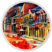 New Orleans Jive Round Beach Towel