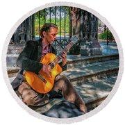 New Orleans Musician - Chris Craig Round Beach Towel