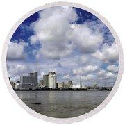 New Orleans Panoramic Round Beach Towel