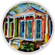 New Orleans Plain And Fancy Round Beach Towel