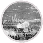 New Orleans: Riot, 1873 Round Beach Towel
