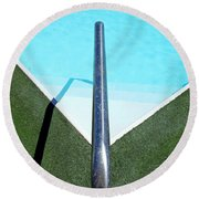 New Orleans Rooftop Pool Round Beach Towel