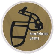 New Orleans Saints Retro Round Beach Towel