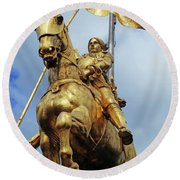 New Orleans Statues 13 Round Beach Towel