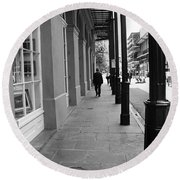 New Orleans Street Photography 1 Round Beach Towel