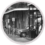 New Orleans Street Photography 2 Round Beach Towel