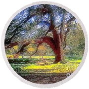 New Orleans Sunday In The Park With George Round Beach Towel