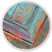 New Orleans Textures Round Beach Towel