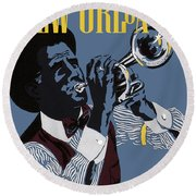 New Orleans, Trumpeter Round Beach Towel
