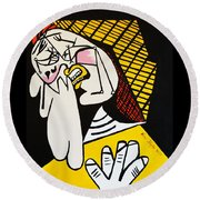 New Picasso The Weeper 2 Round Beach Towel