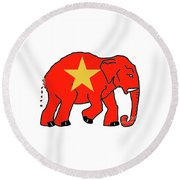 New Republican Party Round Beach Towel