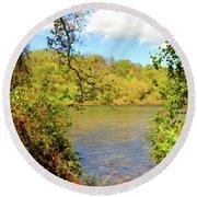 New River Views - Bisset Park - Radford Virginia Round Beach Towel