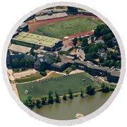 New Rochelle High School Aerial Photo Round Beach Towel