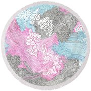 New Space Round Beach Towel