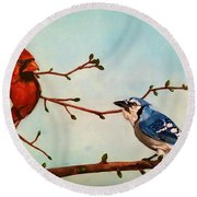 New Buds Of Spring Round Beach Towel