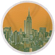 New Tork City Ny Travel Poster 4 Round Beach Towel