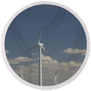 New Windmill Round Beach Towel