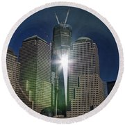 New World Trade Center Round Beach Towel by David Smith