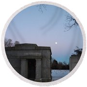 New Year's Eve Tranquility  Round Beach Towel