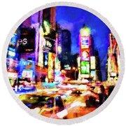 New York At Night - 15 Round Beach Towel