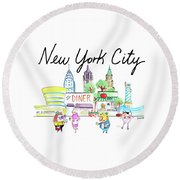 New York City Round Beach Towel