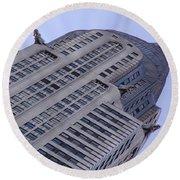 New York City - Chrysler Building 002 Round Beach Towel