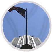 New York City - Chrysler Building 003 Round Beach Towel