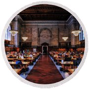 New York City Public Library Rose Reading Room Round Beach Towel