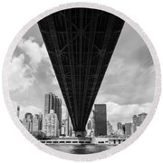 New York City - Queensboro Bridge Round Beach Towel