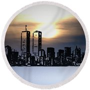 New York City - The Way We Were Round Beach Towel