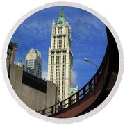 New York City - Woolworth Building Round Beach Towel