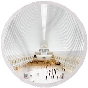 New York City World Trade Center Oculus Round Beach Towel