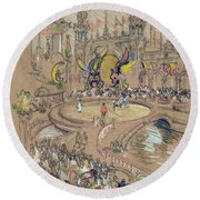 New York, Coney Island, C1906.  Round Beach Towel