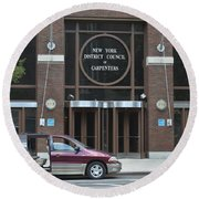 New York District Council Of Carpenters Round Beach Towel