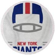 New York Giants Vintage Art Round Beach Towel