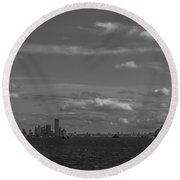 New York Harbor Round Beach Towel