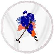New York Islanders Player Shirt Round Beach Towel