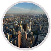 New York, New York 27 Round Beach Towel