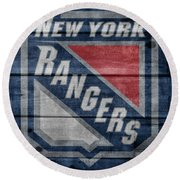 New York Rangers Barn Door Round Beach Towel