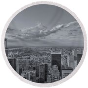 New York Skyline - View On Central Park - 2 Round Beach Towel