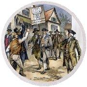 New York: Stamp Act , 1765 Round Beach Towel